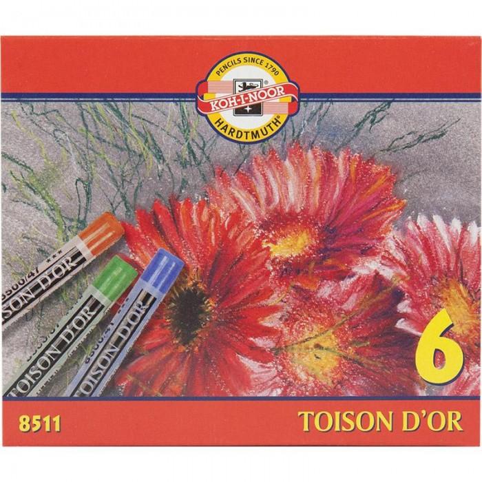 Мелки-пастель TOISON D'OR  6 цветов