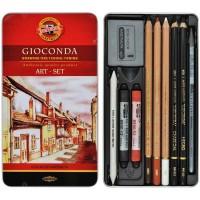 Набор художественный Gioconda Art Set  8890 в металлической коробке (10 предметов)