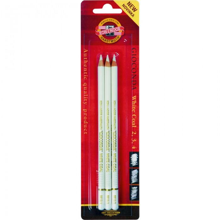 Олівець художній (вугілля біле) Gioconda 3шт/наб