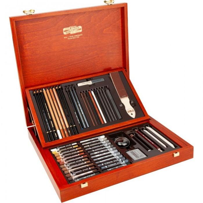 Набір художній подарунковий в дерев'яній коробці (54 предмети)