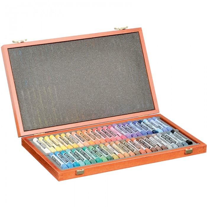 Мелки-пастель TOISON D'OR в подарочной деревянной коробке (48 цветов)