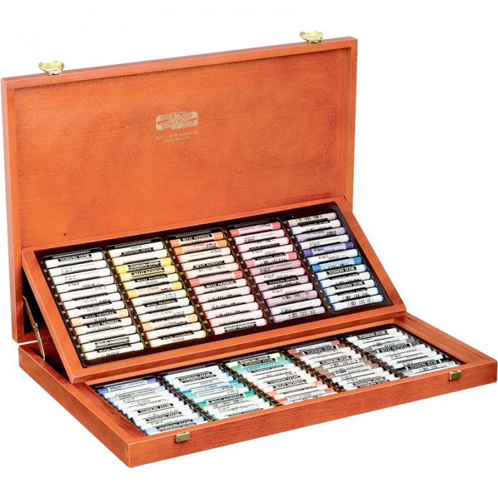 Мелки-пастель TOISON D'OR в подарочной деревянной коробке (120 цветов)