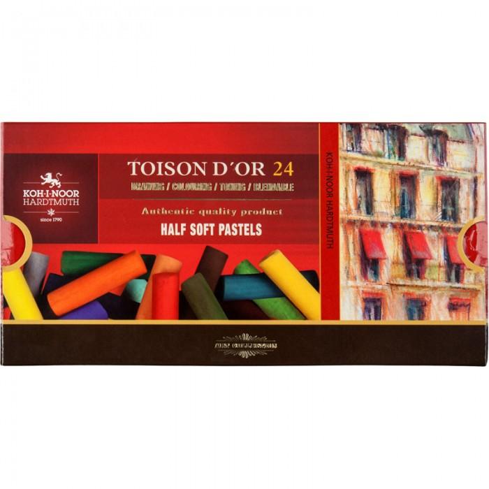 Мелки-пастель TOISON D'OR 1/2 (половинки) 24 цвета