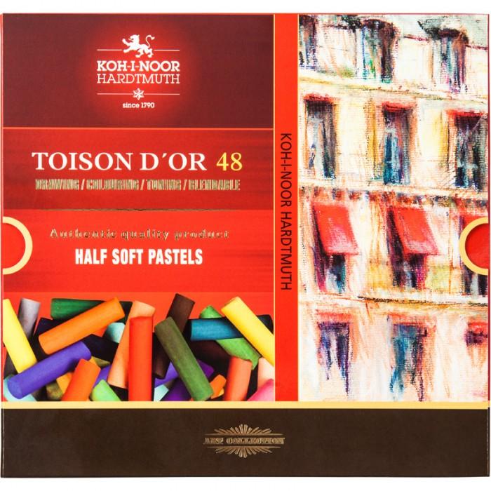 Мелки-пастель TOISON D'OR 1/2 (половинки) 48 цветов