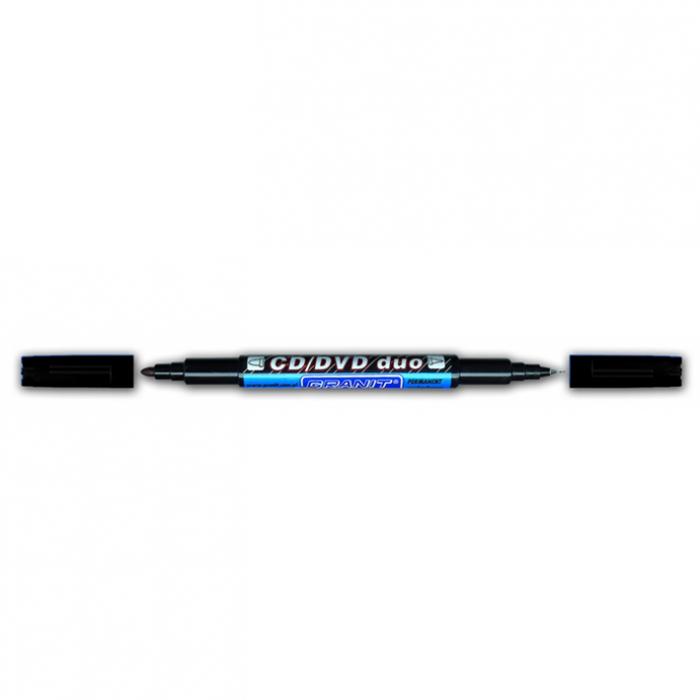 Маркер перманентний для CD/DVD DUO (чорний) gr.M830.Black (20)