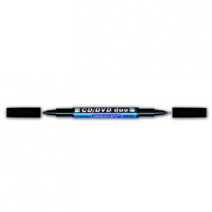 Маркер перманентный для CD/DVD DUO (черный) gr.M830.Black (20)