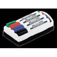 Комплект из 4-х маркеров для сухостираемых досок и губка  BM.8800-84