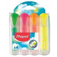 Набор текст-маркеров Fluo Peps Ultra Soft Transparent (4шт)  MP.745947