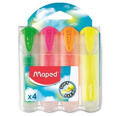 Набор текст-маркеров Fluo Peps Ultra Soft Transparent (4шт)  MP.745947