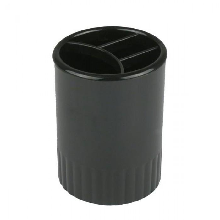 Стакан-подставка на 4 отделения (черный)