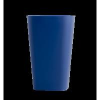 Стакан пластиковий для письмового приладдя (квадратний, синій)