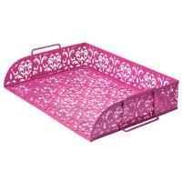 """Лоток горизонтальний """"Barocco"""" рожевий bm.6253-10"""