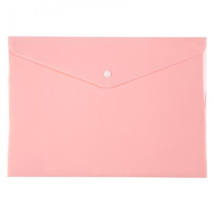 Папка-конверт на кнопке Pastelini А4 (розовый) 1412-10-a