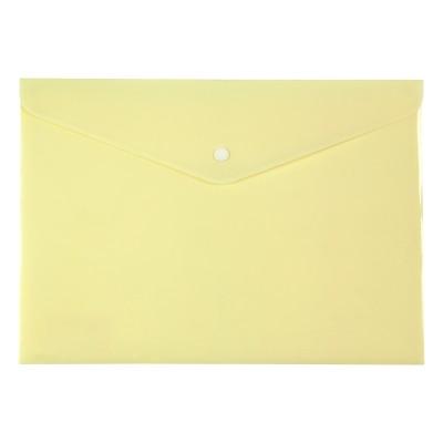 Папка-конверт на кнопці Pastelini А4 (жовтий) 1412-08-a