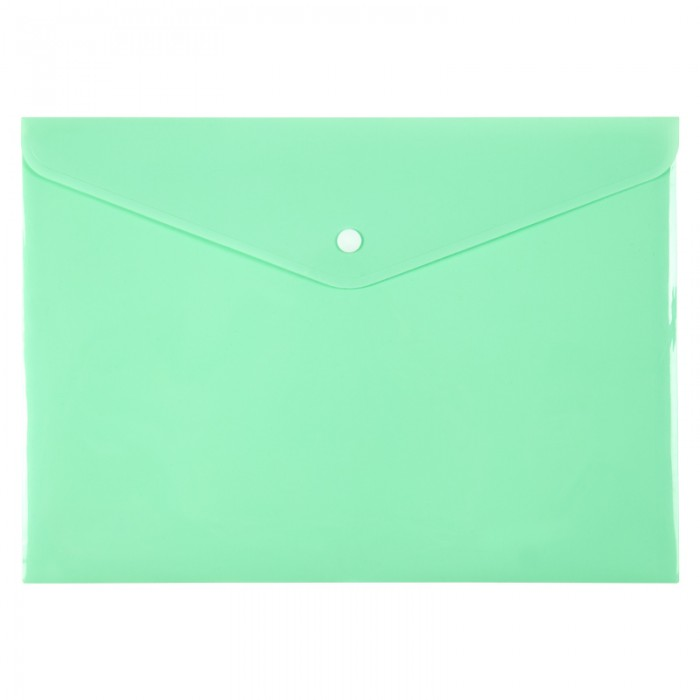 Папка-конверт на кнопке Pastelini А4 (мятный) 1412-18-a