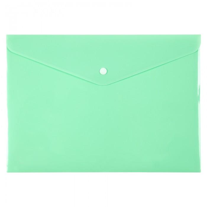 Папка-конверт на кнопці Pastelini А4 (м'ятний) 1412-18-a