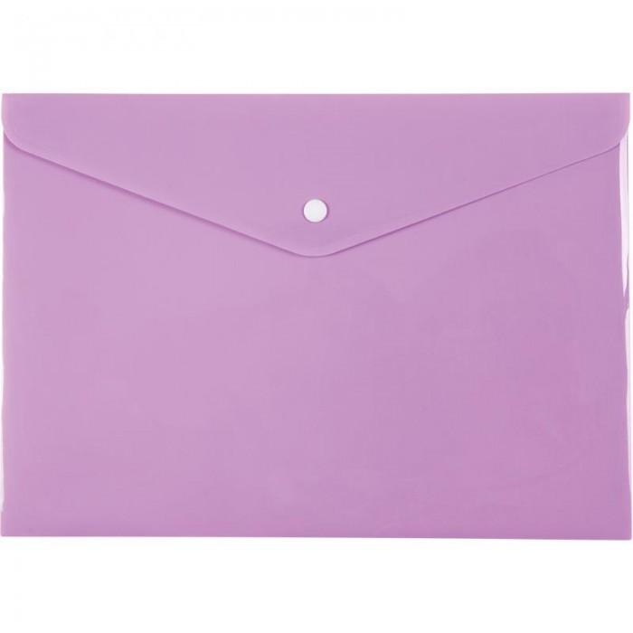 Папка-конверт на кнопці Pastelini А4 (бузковий) 1412-36-a