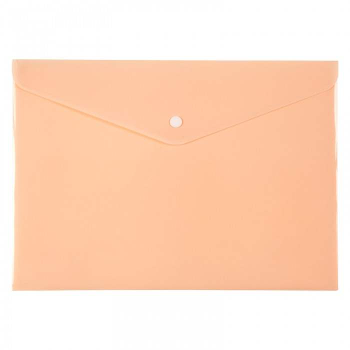 Папка-конверт на кнопке Pastelini А4 (персиковый) 1412-42-a