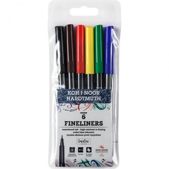 Набор линеров цветных 7770 (6 цветов)