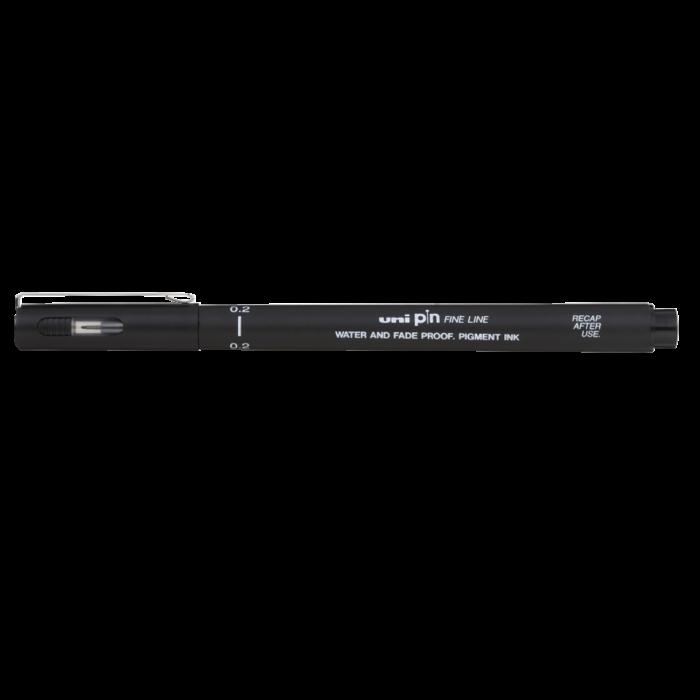 Лайнер-рапидограф UNI PIN Fine Line, черный (0,2мм) PIN-200
