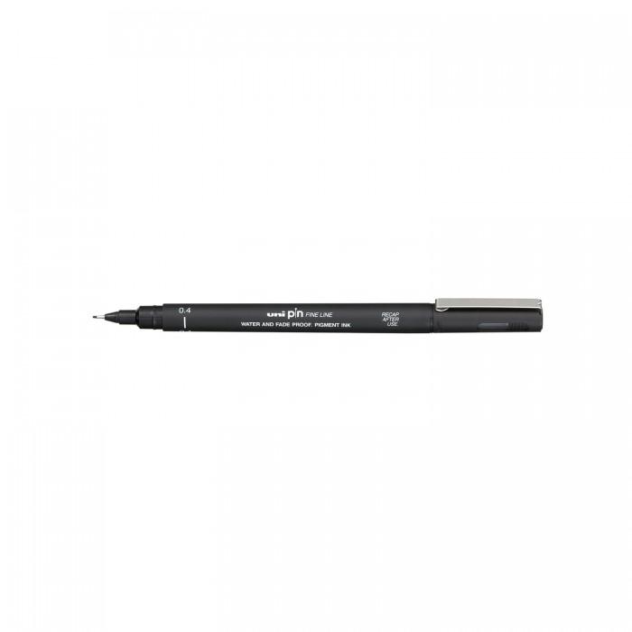 Лайнер-рапидограф UNI PIN Fine Line, черный (0,8мм) PIN-200