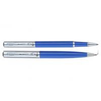 Комплект из шариковой ручки и роллера в подарочном футляре (синий) Regal R131222.L.RB
