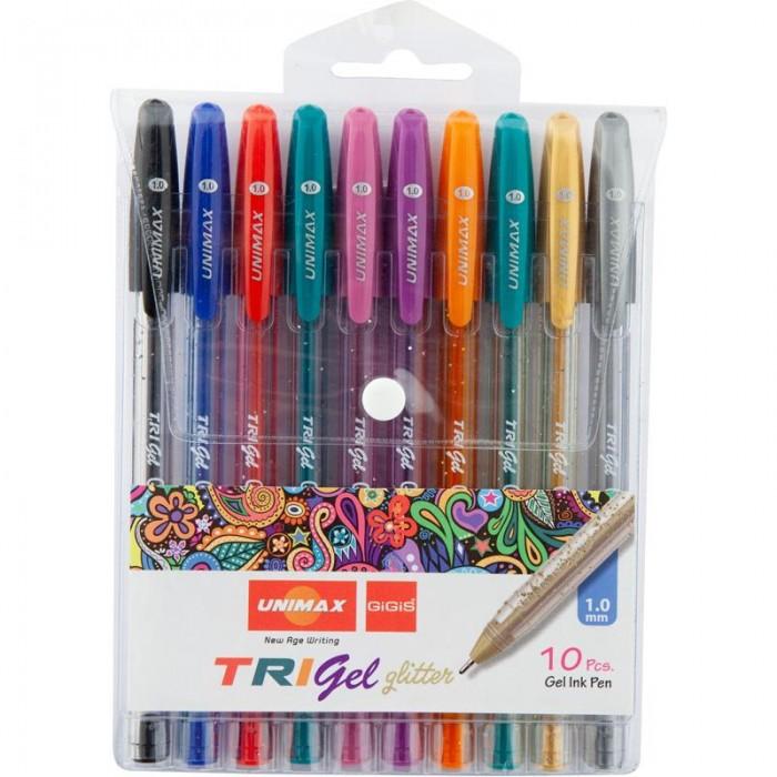 Набір гелевих ручок Trigel Glitter (10 кольорів)