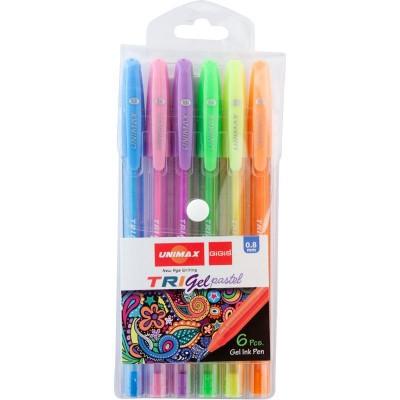 Набір гелевих ручок Trigel Pastel  (6 кольорів)