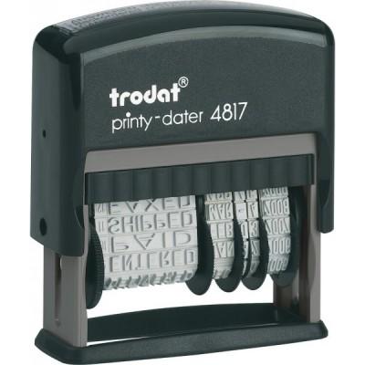Датер с 12-ти бухгалтерськими термінами Trodat Printy 4817, укр, 3,8 мм