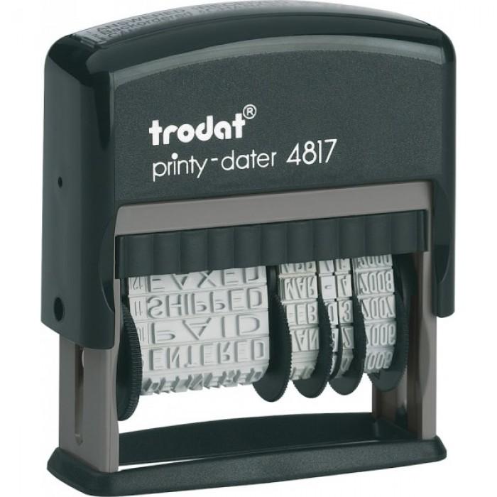 Датер з 12-ти бухгалтерськими термінами Trodat Printy 4817, лат, 3,8 мм