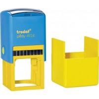 Оснастка для круглой печати Trodat, диам 40 мм, пластик, желто-голубой
