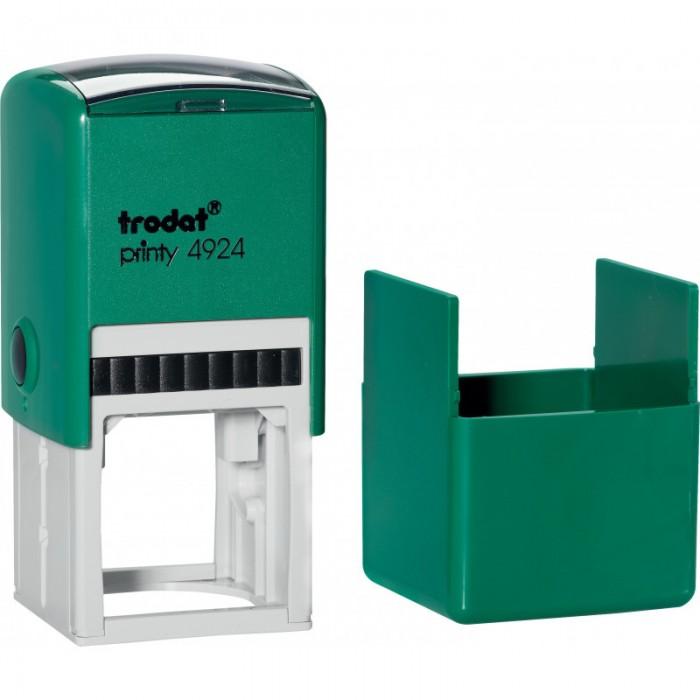Оснастка для круглой печати Trodat, диам 40 мм, пластик, зеленый