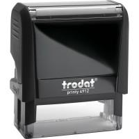 Оснащення для штампа Trodat 4912, 47х18 мм, пластик, чорний