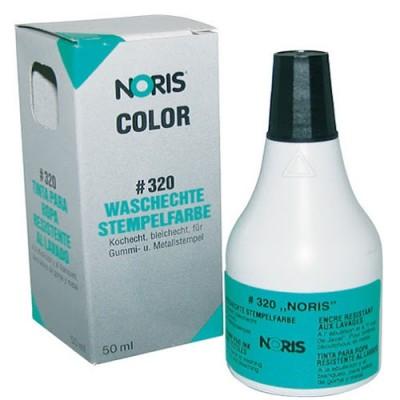 Штемпельна фарба для тканин на спиртовій основі № 320, 50мл (чорна)