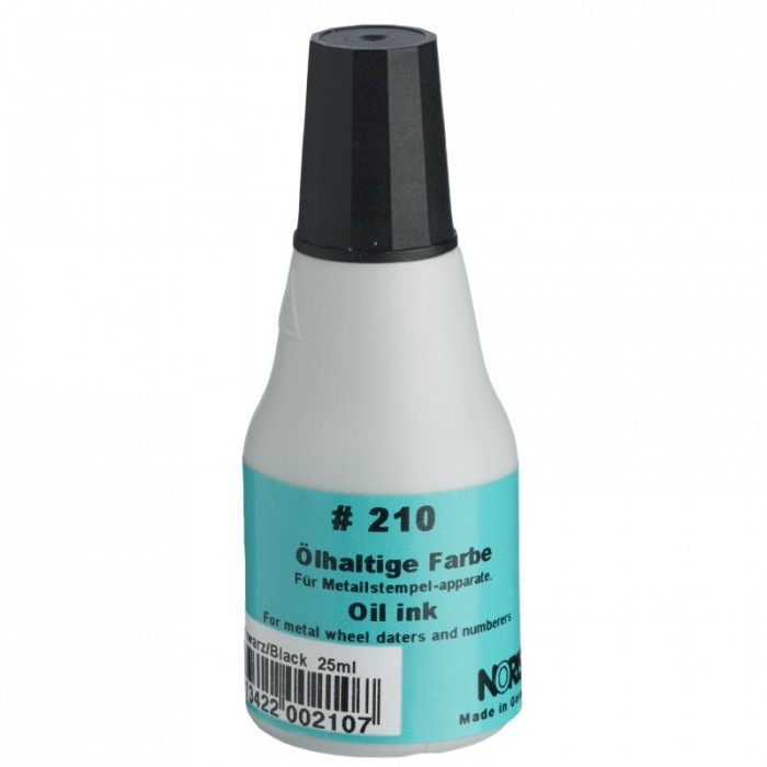 Штемпельная краска быстросохнущая на масляной основе №210 (черная) 25мл
