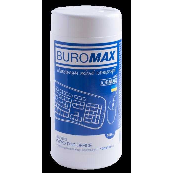 Салфетки для очистки оргтехники, пластика и офисной мебели Jobmax  bm.0803
