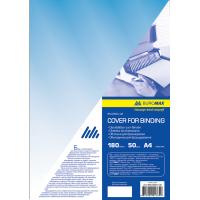 Обложки для переплета прозрачные А4, 180мкм. (50шт) синий