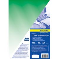 Обложки для переплета прозрачные А4, 180мкм. (50шт) зеленый