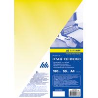 Обкладинки для палітурки прозорі А4, 180мкм. (50шт) жовтий