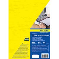 """Обкладинки картонні """"під шкіру"""" А4, 250г. (50шт) жовті"""