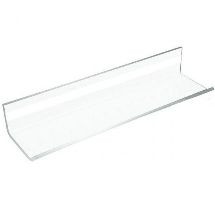 Полочка акриловая для стеклянных досок на клеевой основе