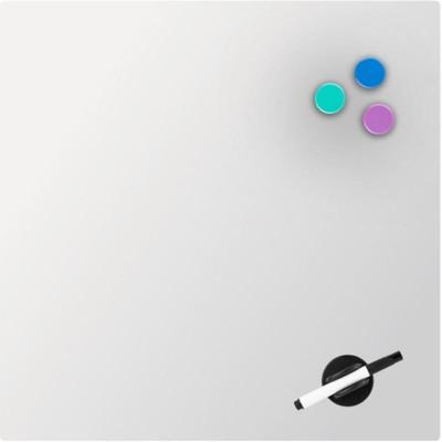 Дошка скляна, магнітно-маркерна, біла (45х45см)