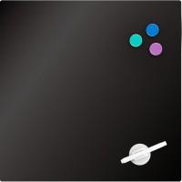 Доска стеклянная, магнитно-маркерная, черная (45х45см)