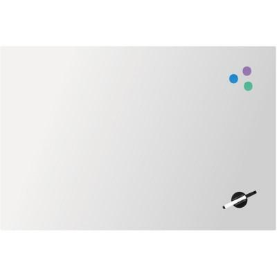 Дошка скляна, магнітно-маркерна, біла (60х90см)