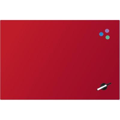 Доска стеклянная, магнитно-маркерная, красная (60х90см)