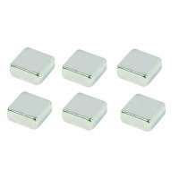 Набір металевих магнітів для скляних дошок у вигляді куба (6шт)