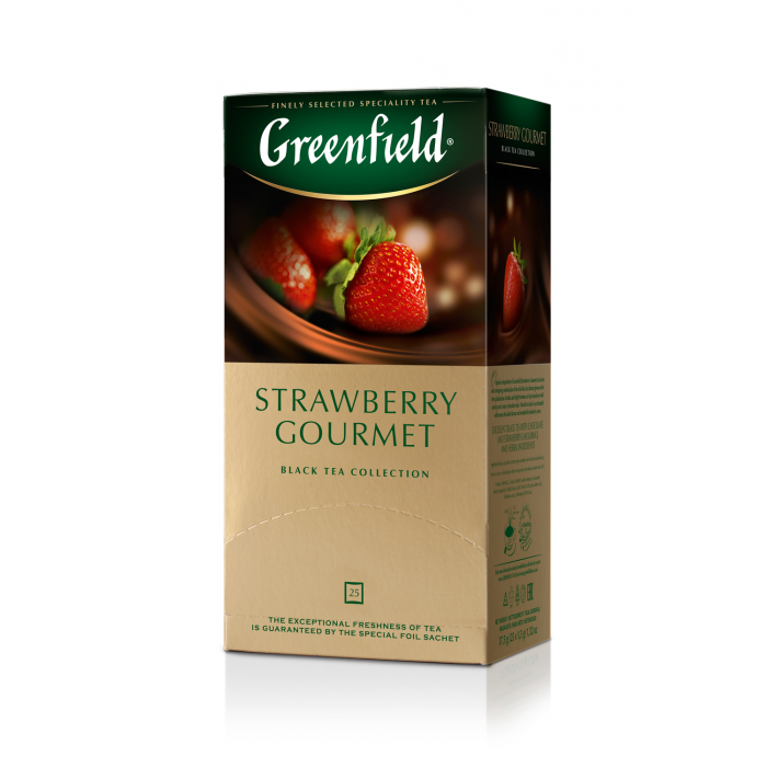 Чай Strawberry Gourmet, (1,5грх25п) черный