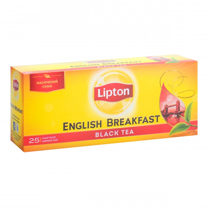 Чай Lipton English breakfast (2г.х25п) черный