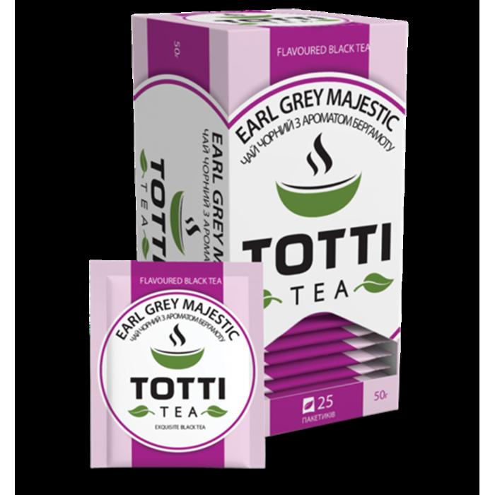 Чай Totti Tea Эрл Грей Маджестик (2грх25п) черный