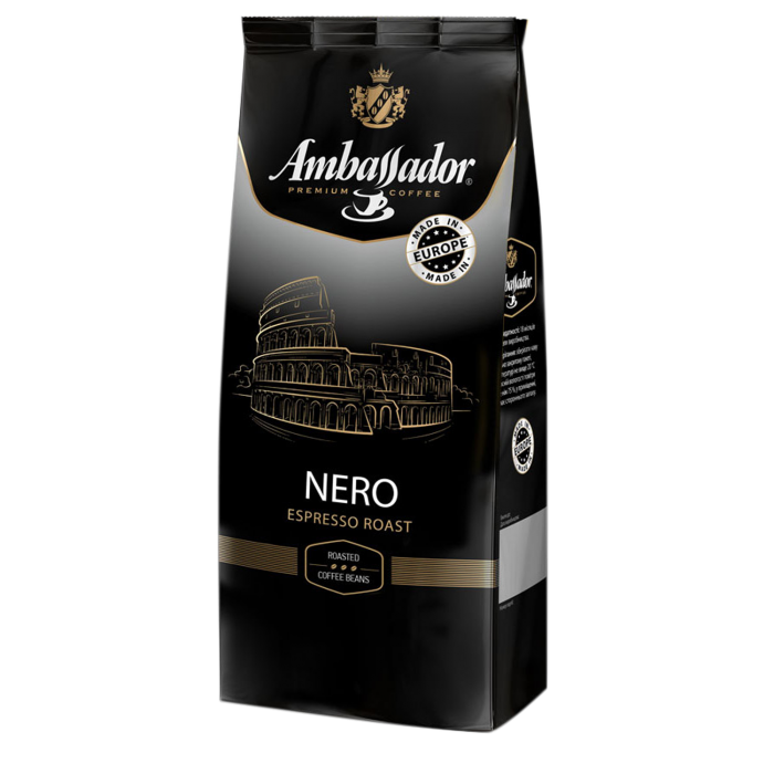 Кава в зернах Ambassador Nero 1кг.